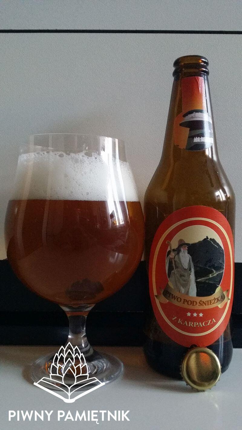 Piwo Pod Śnieżką z Karpacza wyprodukowano dla Sklepy Regionalne przez Browar Witnica