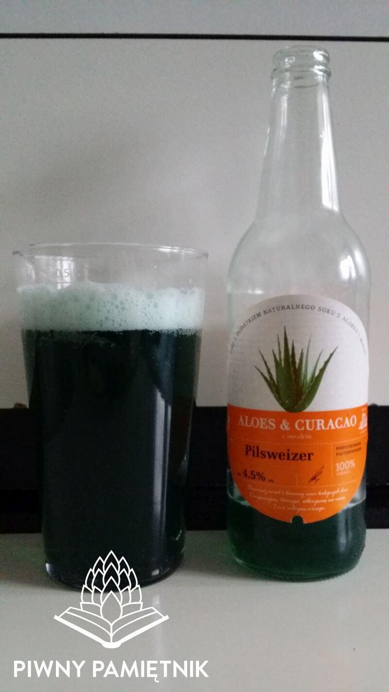 Pilsweizer Aleos & Curacao z miodem z Browaru Grybów