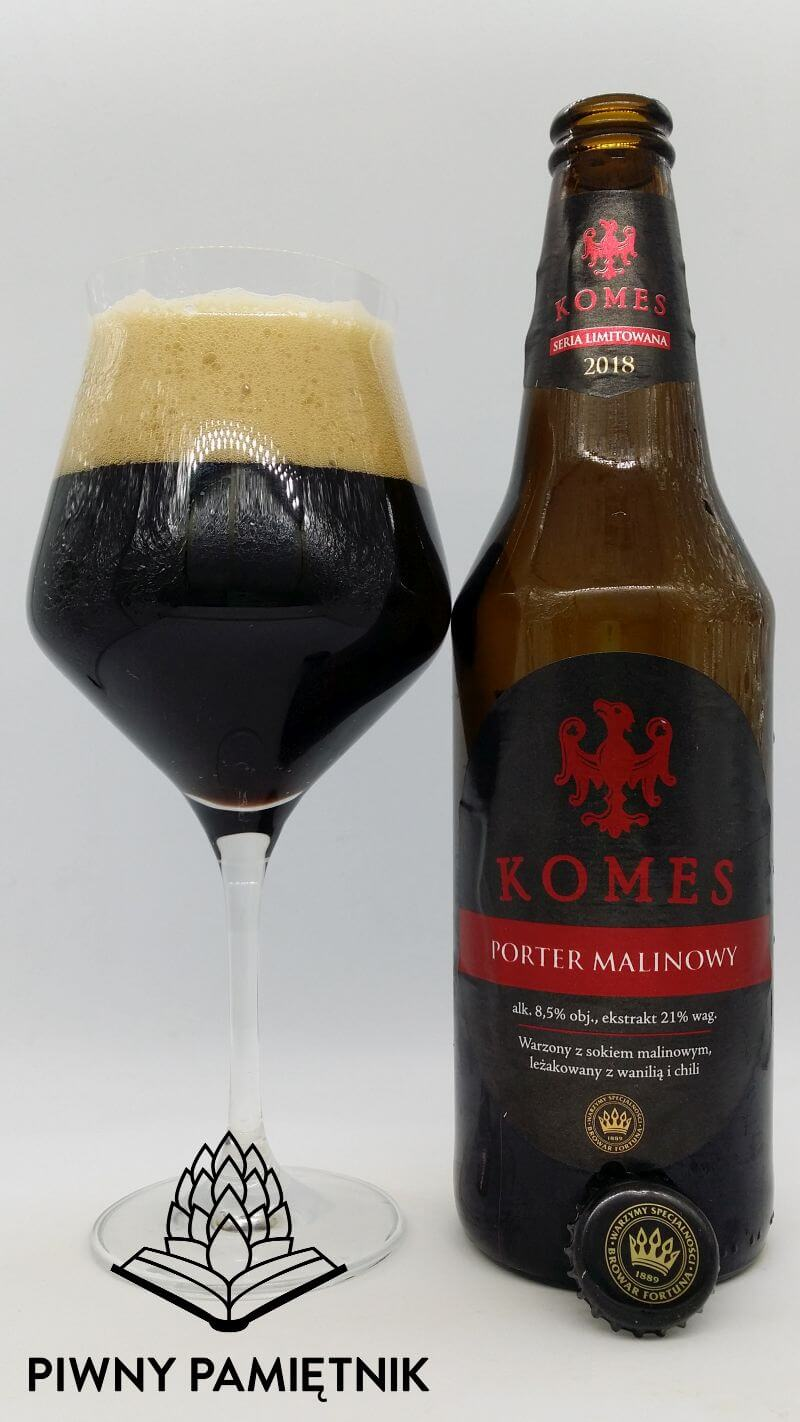 Komes Porter Malinowy z Browaru Fortuna (Seria Limitowana 2018)