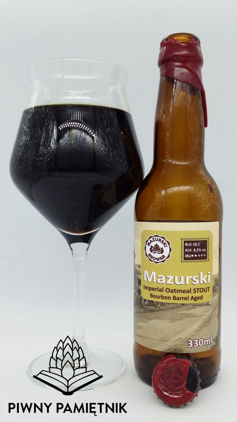 Mazurski Imperial Oatmeal Stout Bourbon Barrel Aged z Browaru Mazurskiego