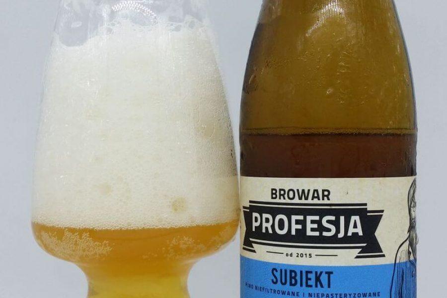 Subiekt z kooperacji Browaru Profesja i sklepu Drink Hala