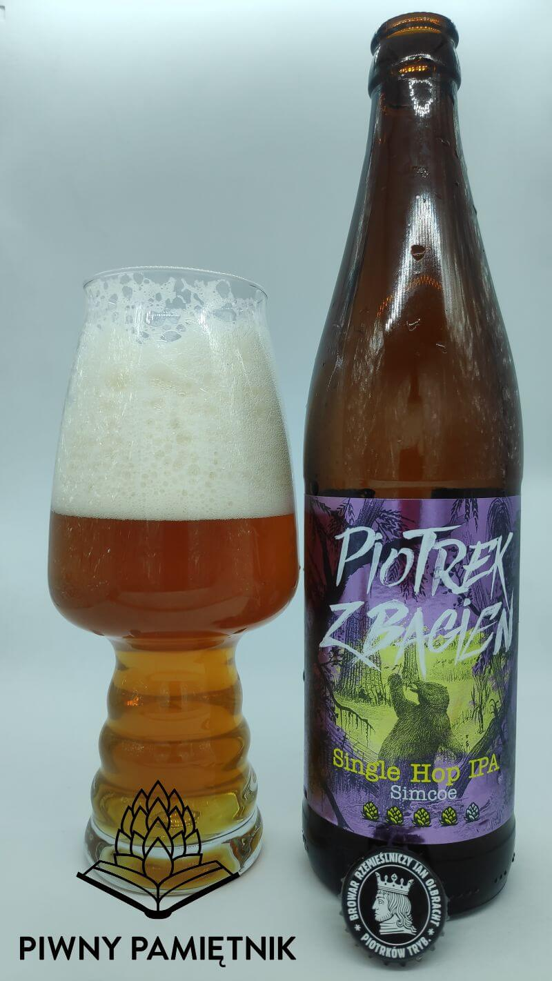 Piotrek z Bagien Simcoe Single Hop IPA z Browaru Jan Olbracht