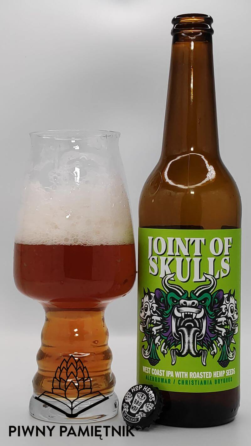 Joint Of Skulls West Coast IPA with Roasted Hemp Seeds z kooperacji Browaru AleBrowar i Browaru Christiania Bryghus (Kopenhaga – Dania)
