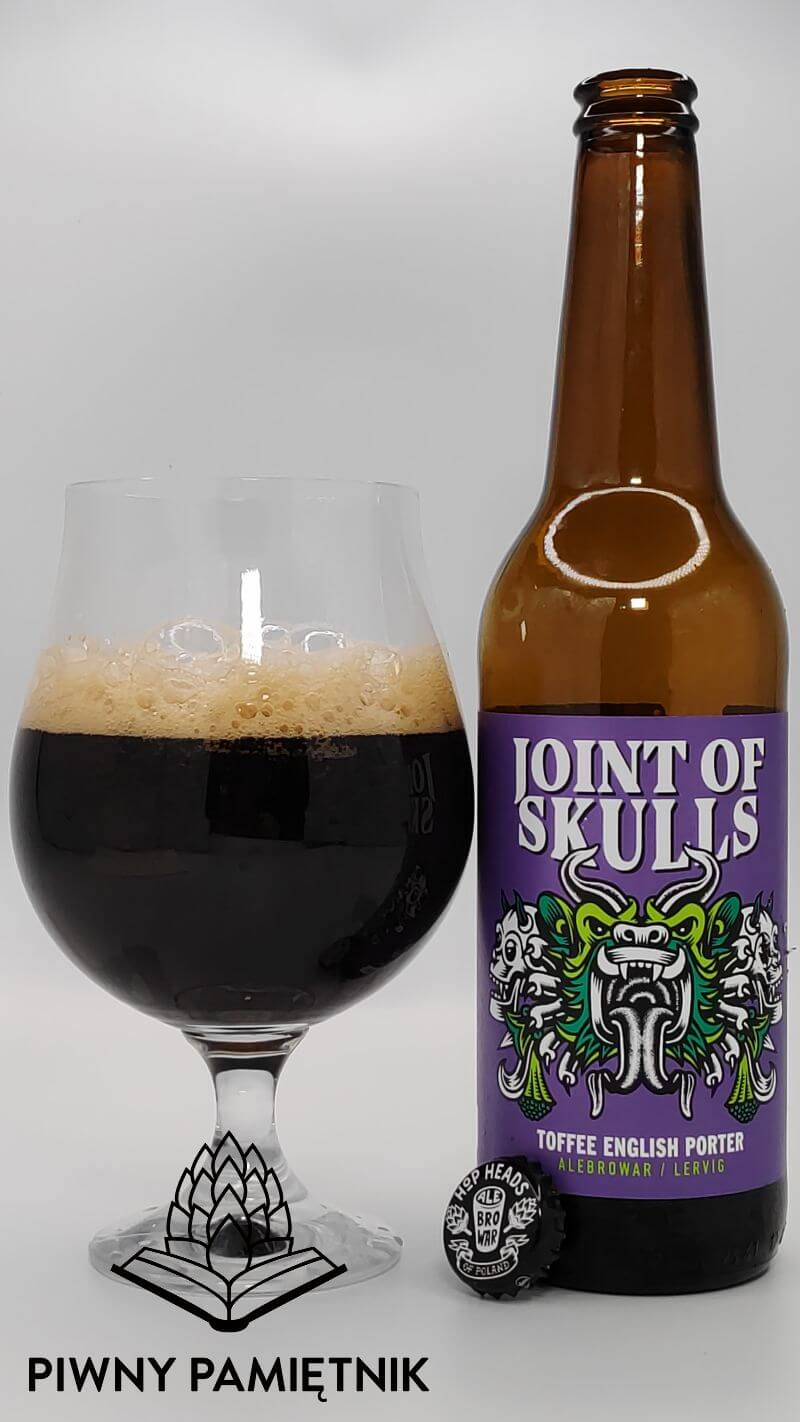 Joint Of Skulls Toffee English Porter z kooperacji Browaru AleBrowar i Browaru Lervig (Stavanger – Norwegia)