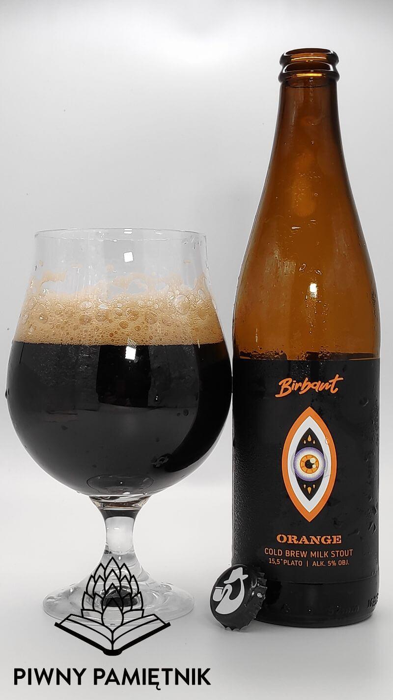"""Orange Cold Brew Milk Stout z kooperacji Wytwórni Cold Brew Coffee """"Kyoto"""" oraz  Browaru Birbant"""