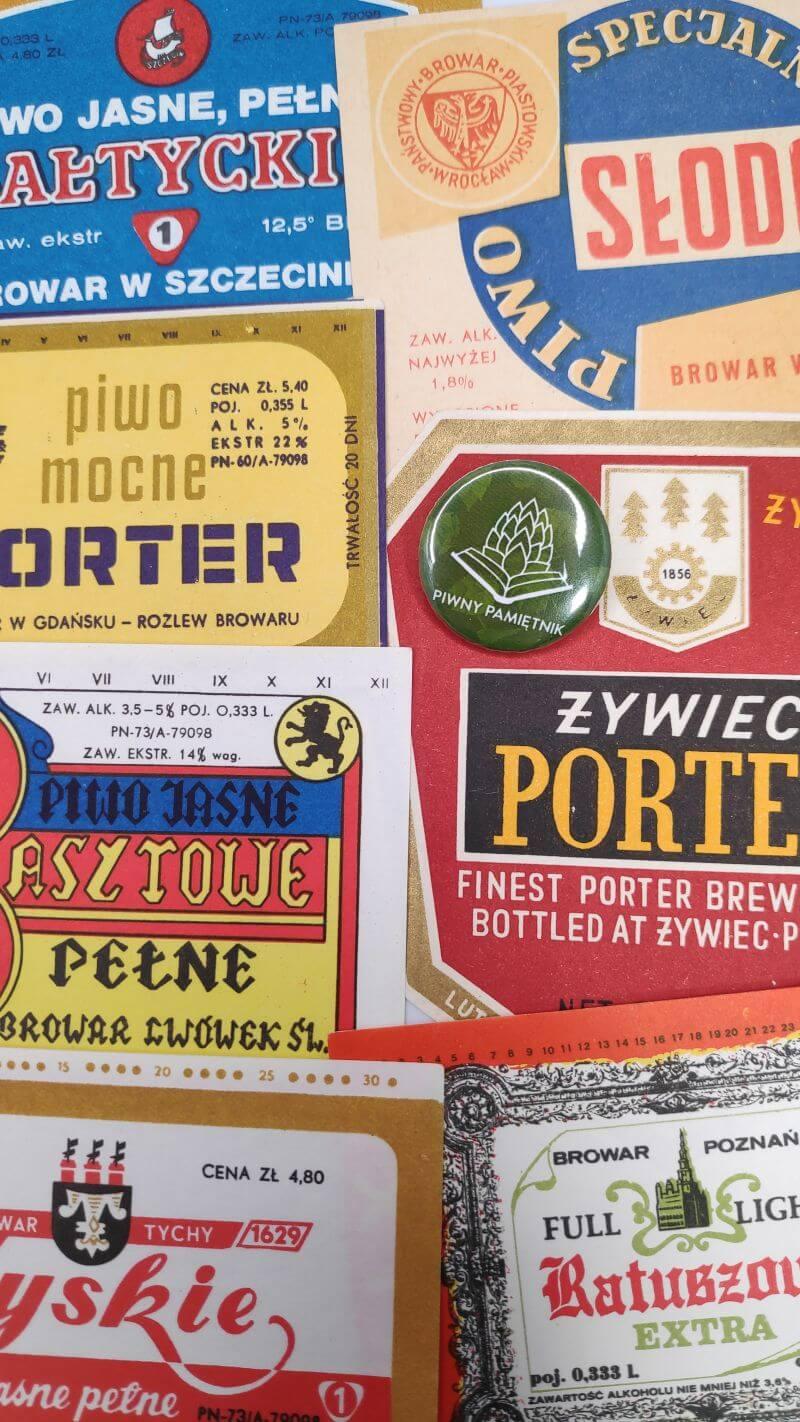 Zabytkowe Etykiety Polskich Piw na Piwnym Pamiętniku